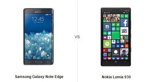 Samsung Galaxy Note Edge vs Nokia Lumia 930 : le comparatif