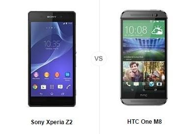 Sony Xperia Z2 HTC One M8