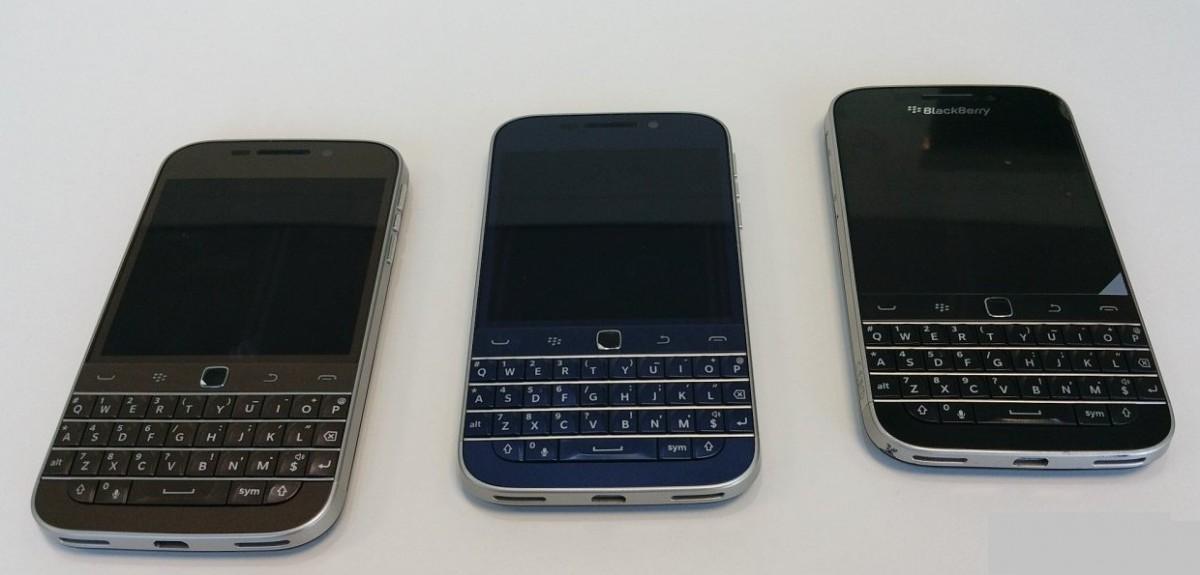 blackberry classic trois coloris