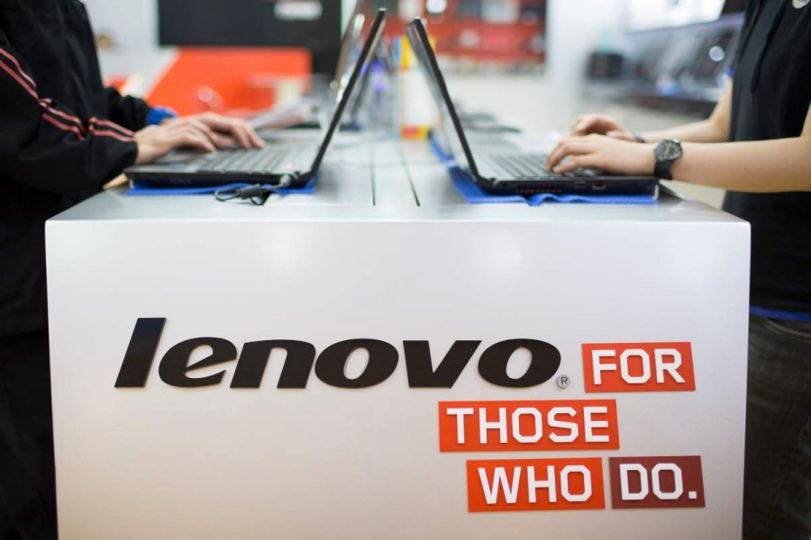 Inside A Lenovo Group Store As Company Reports 25 Percent Jump In Fourth-Quarter Profit