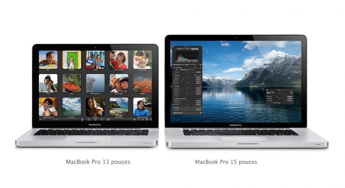 macbook pro retina 13 pouces 15 pouces