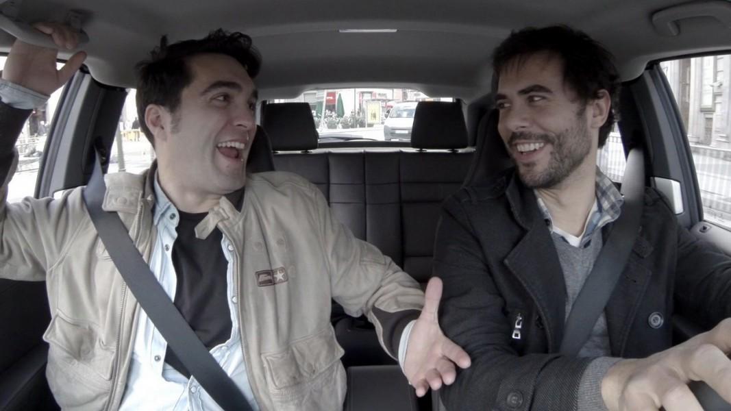 amis en voiture