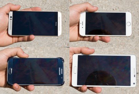iPhone 6 , Samsung Galaxy S6, Note 4? qui a la meilleure visibilit� en ext�rieur?