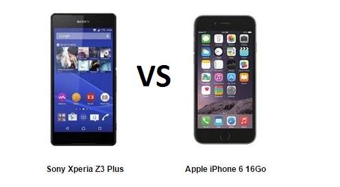 iPhone 6 vs Sony Xperia Z3 Plus, le comparatif