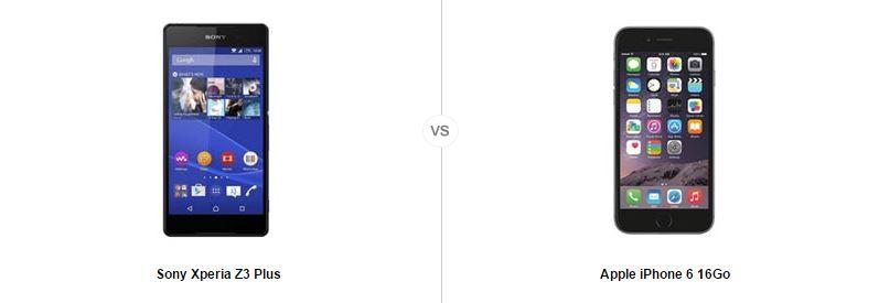 Sony Xperia Z3 Plus vs iPhone 6