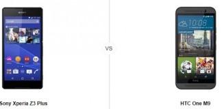 Sony Xperia Z3 Plus vs HTC One M9