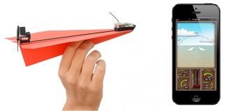 avion papier connecté