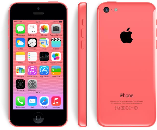 l 39 iphone 5c en version rose est moins cher que les autres. Black Bedroom Furniture Sets. Home Design Ideas