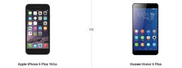 iphone 6 plus vs honor 6 plus , comparatif