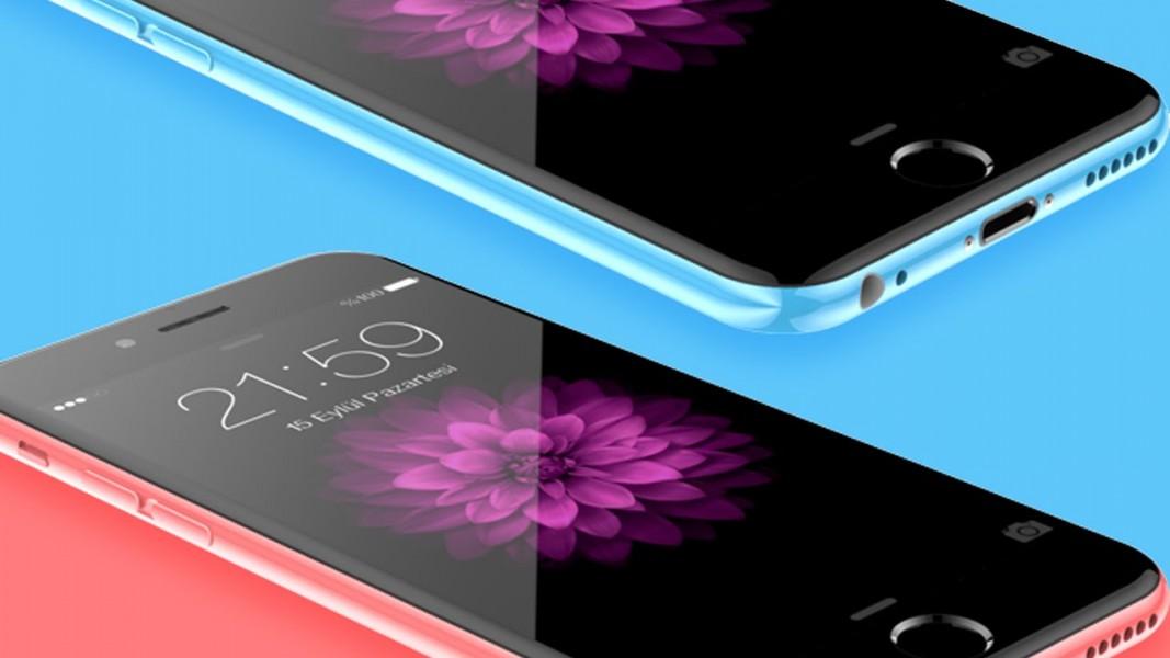 iphone 6c rose et bleu