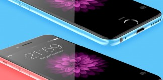 iphone 6c rose et bleu