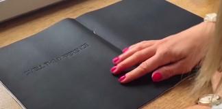 publicité LG G4 cuir