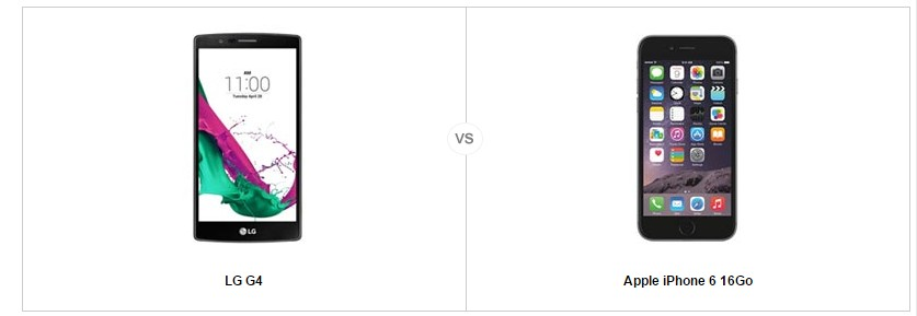 LG G 4 vs iPhone 6