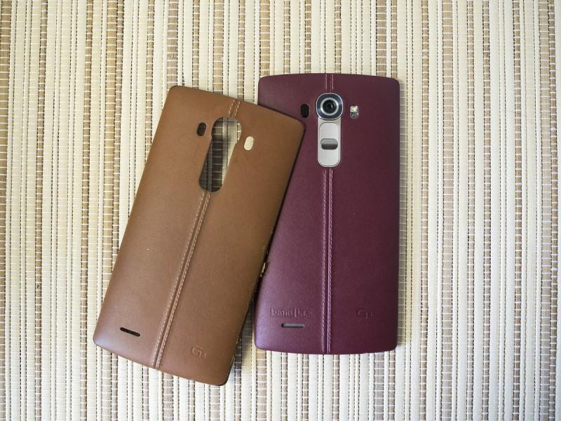 LG G4 cuir deux coques