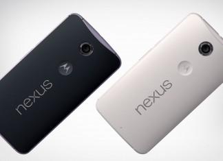 Nexus 6 noir et blanc incliné