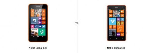 Nokia Lumia 635 vs 625