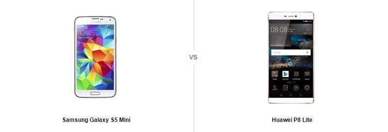 Samsung Galaxy S5 Mini vs Huawei P8 Lite, le comparatif