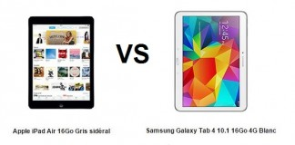 apple ipad air vs samsung galaxy tab 4, comparatif
