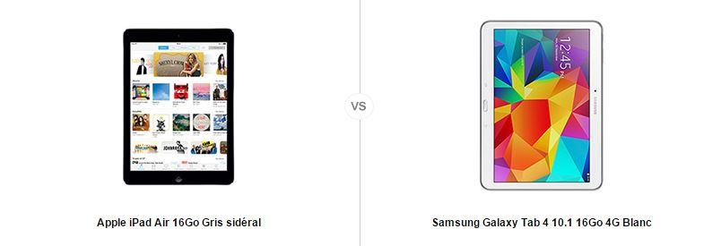apple ipad air vs samsung galaxy tab 4