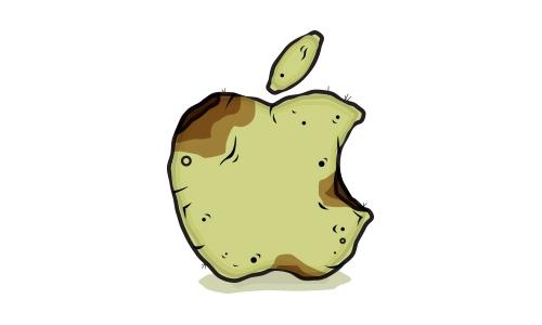 apple ventes déçoivent, pomme pourri