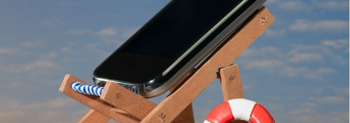 smartphone plage