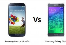 samsung galaxy S4 vs Samsung Glaxy Alpha, le comparatif