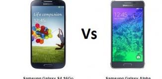 samsung galaxy S4 vs Samsung Glaxy Alpha, le comparatif