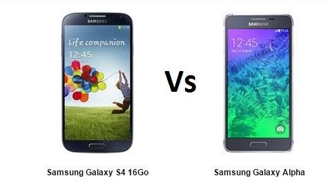 Samsung Galaxy S4 vs Alpha, le comparatif