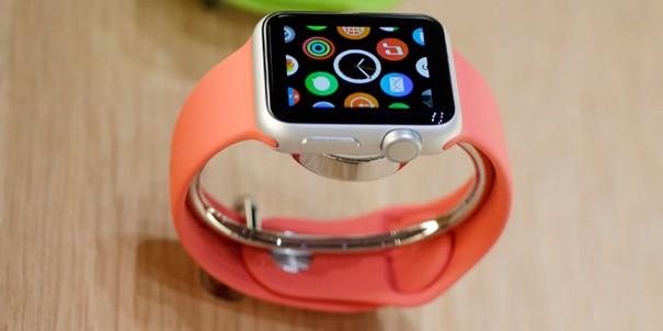 orange apple watch