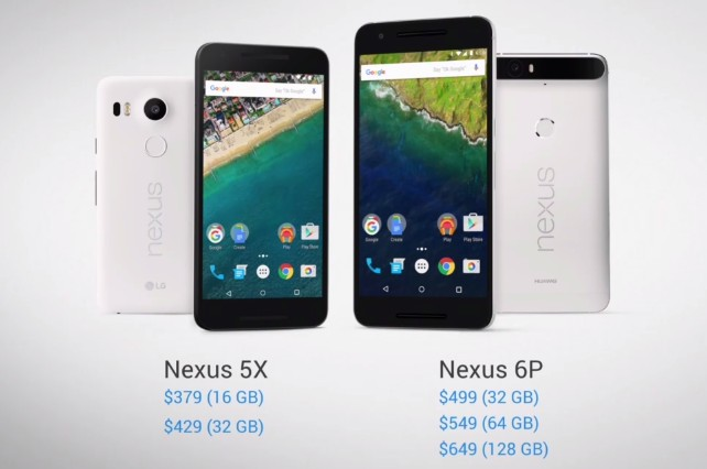 google nexus 5x et 6p