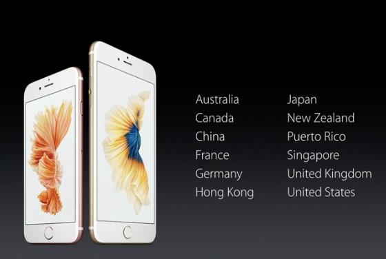 iphone 6s plus pays lancement