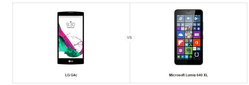 lg g4 c vs microsoft lumia 640 XL