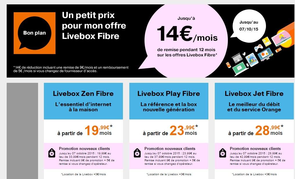 la livebox fibre d 39 orange en promotion jusqu 39 au 7 octobre meilleur mobile. Black Bedroom Furniture Sets. Home Design Ideas