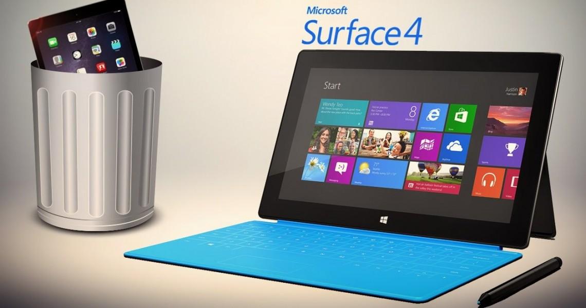 microsoft surface pro 4 avec ipad mini