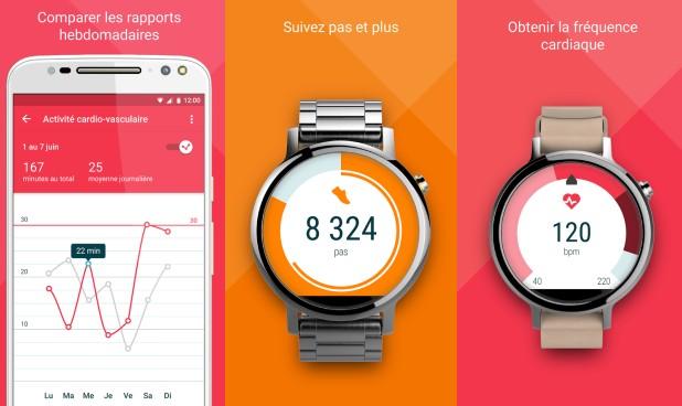 motorola moto 360 2015 une application fitness d di e aux montres de la marque meilleur mobile. Black Bedroom Furniture Sets. Home Design Ideas