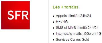 Forfait SFR Power illimité 5Go sans mobile avec engagement 12 mois