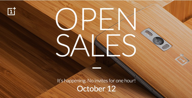 oneplus two open sale