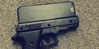 coque-iPhone-en-forme-de-pistolet