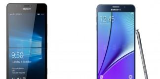 microsoft lumia 950 xl vs samsung galaxy note 5