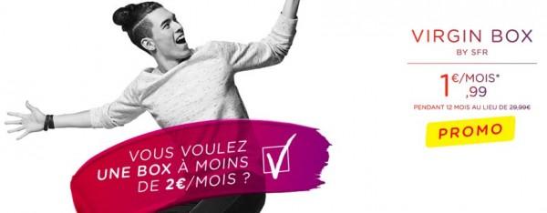 La Virgin Box est � moins de 2 euros par mois !