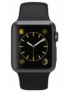 montre apple watch sport aluminium 38mm noir