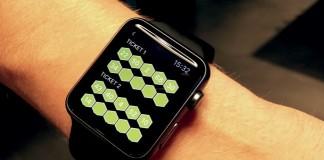 Apple Watch avec grille de loto