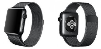 Apple Watch Bracelet Milanais Noir