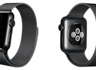 Apple Watch Bracelet Milanais Noir