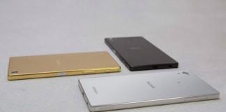 Les différents coloris du Sony Xperia Z5 Premium