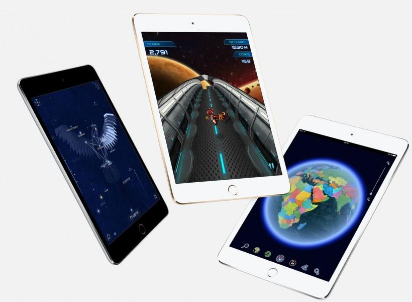 Les 3 coloris de l'iPad Mini 4