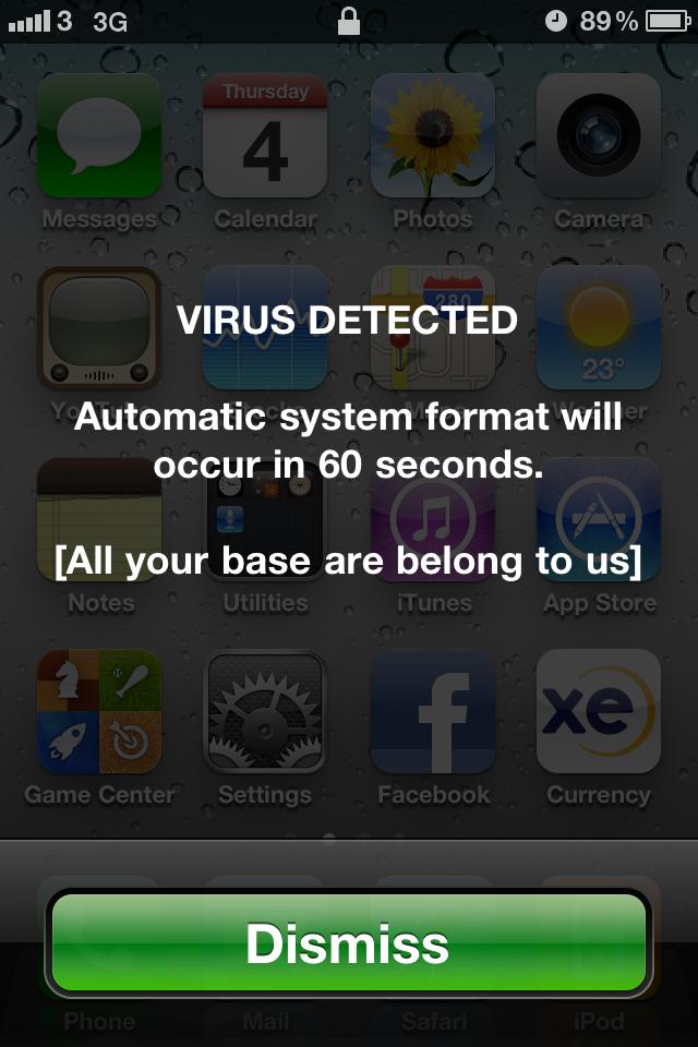 Virus facebook iphone x