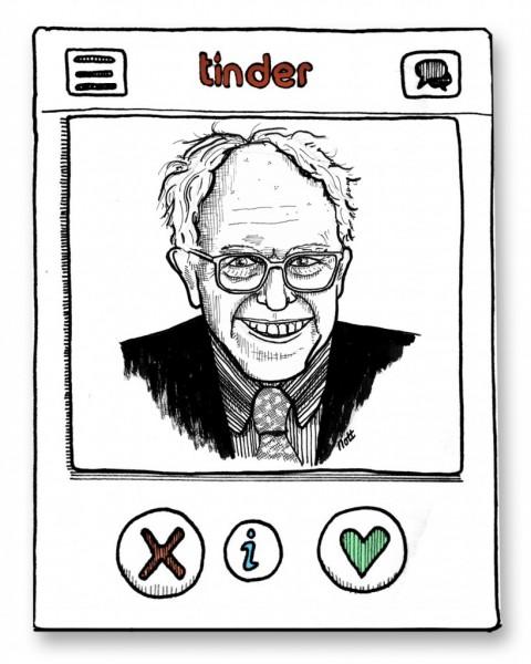 Bernie Sanders sur Tinder
