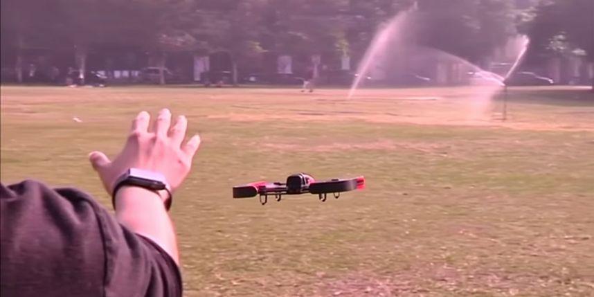 Contrôle du drone avec l'Apple Watch
