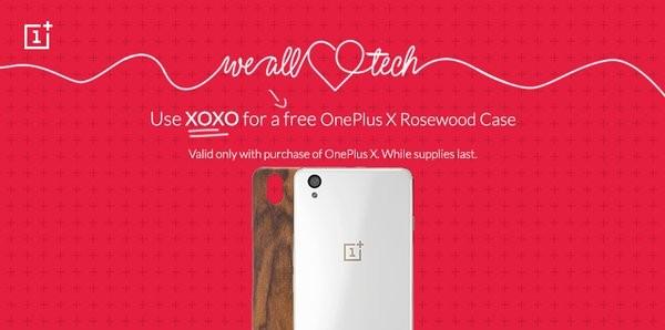 OnePlus 2 et X : des coques offertes sp�cialement pour la Saint-Valentin